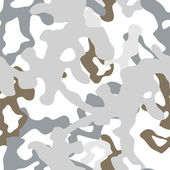 Military winter white camouflage seamless pattern, vector — Stockvektor