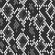 Постер, плакат: Snake reptile or crocodile skin seamless pattern in shades of grey vector