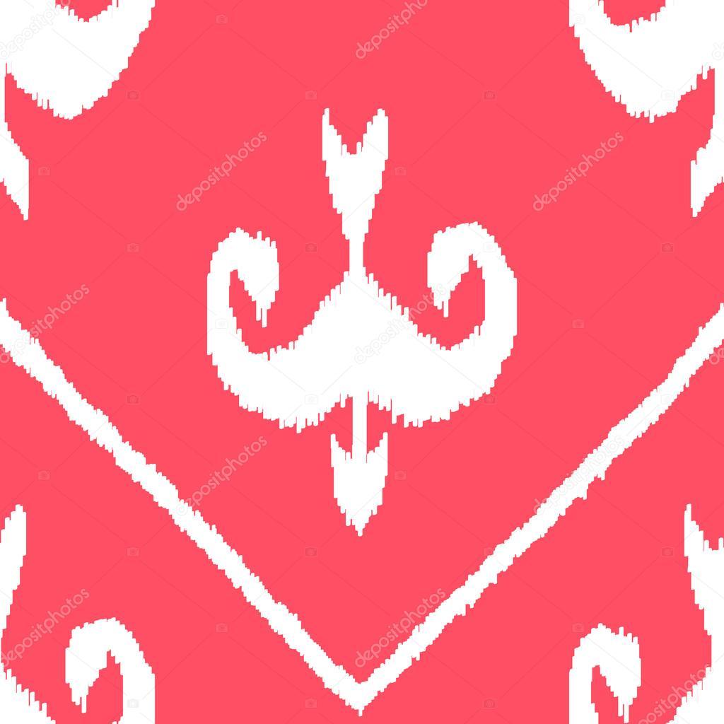 Middle East Traditional Ikat Pattern Desktop Wallpaper