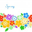 Bright colorful floral spring seamless background, vector — Stock Vector