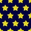Royalty-Free Stock ベクターイメージ: Shiny golden military stars on blue seamless pattern, vector
