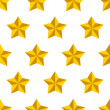 Royalty-Free Stock 矢量图片: Shiny golden military stars on white seamless pattern, vector