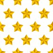 Royalty-Free Stock Imagen vectorial: Shiny golden military stars on white seamless pattern, vector