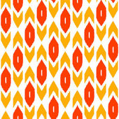 Ikat traditional middle east fabric in red seamless pattern, vector — Stock Vector