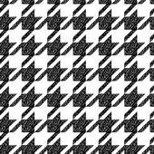 Modèle sans couture classique pied-de-poule noir et blanc, vector — Vecteur