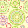 Colorful abstract seamless pattern with round shapes, vector — Stock Vector