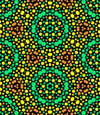 Colorful abstract kaleidoscope seamless pattern on black, vector — Stock Vector