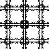 Black and white elegant lattice in victorian style seamless pattern, vector — Stock Vector
