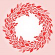 Pink leaves elegant wreath background, vector — Stock Vector