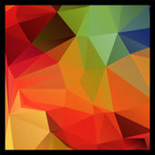 Colorful red and green polygon abstract background, vector — Stock Vector