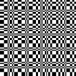 Abstract checkered black and white seamless pattern, vector — Stock Vector