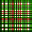 Colorful green checkered fabric seamless pattern, vector — Stock Vector #24079839
