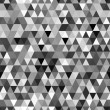 Abstract black and white geometric triangle seamless pattern, vector — Stock Vector