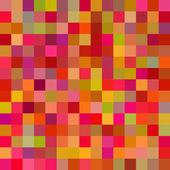 抽象的なカラフルな幾何学的な正方形のシームレスなパターン、ベクトル — ストックベクタ