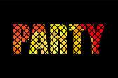 Parti banner formgivningsmall rött på svart bakgrund, vektorgrafik — Stockvektor