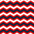 Stock Vector: Abstract geometric chevron seamless pattern in blue red and white, vector