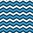 Stock Vector: Abstract geometric chevron seamless pattern in blue and white, vector