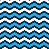 Abstract geometric chevron seamless pattern in blue and white, vector — Stockvector