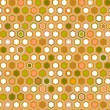 Royalty-Free Stock Imagen vectorial: Abstract geometric hexagon seamless pattern in brown, vector