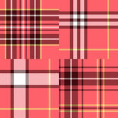 Abstract geometric tartan fabric seamless pattern in pink, vector — Stock Vector
