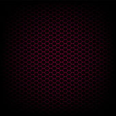 Black and red carbon abstract geometric background, vector — Stock Vector