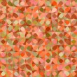 Abstract geometric colorful seamless pattern in orange, vector — Stock Vector