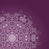 Cute delicate summer floral background in violet and white, vector — Vecteur