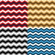 Chevron seamless patterns collection in different colors, vector — Stock Vector #25839389