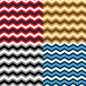 Chevron seamless patterns collection in different colors, vector — Stock Vector