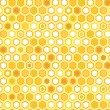 Abstract colorful yellow honeycomb seamless pattern, vector — Imagens vectoriais em stock