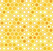 Abstract colorful yellow honeycomb seamless pattern, vector — Stock Vector