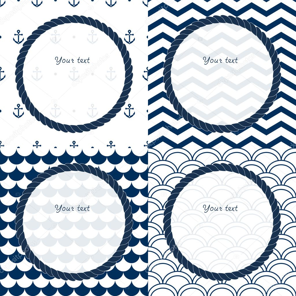 Navy Blue Thank You Notes Stationery Note Cards Boxed