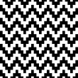 Abstract geometric pixelated zigzag seamless pattern in black and white, vector — Stock Vector