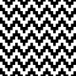 Stock Vector: Abstract geometric pixelated zigzag seamless pattern in black and white, vector