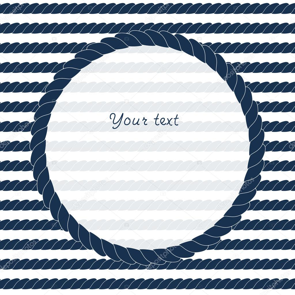 Depositphotos 27731365 navy blue and white circle rope frame