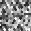 Hexagon seamless pattern in shades of grey, vector — Stock Vector