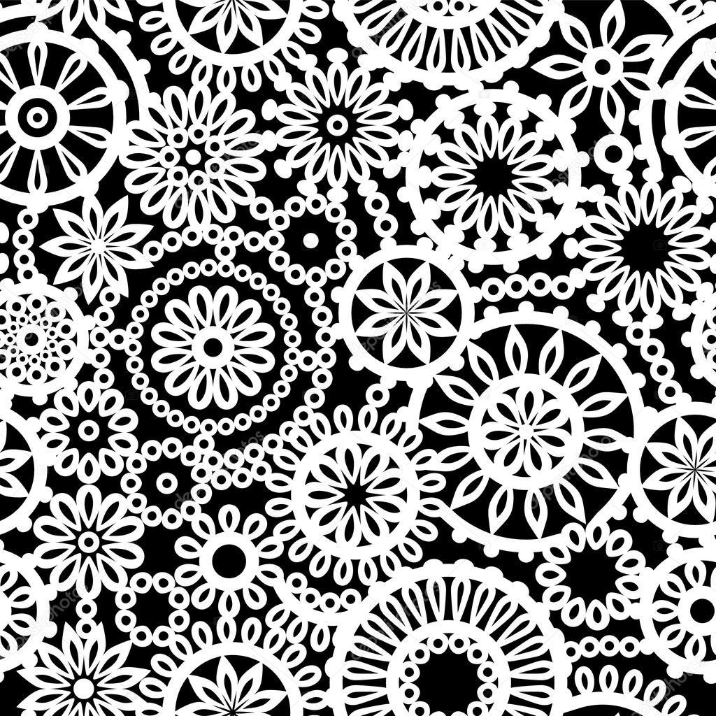 Black and white geomet...