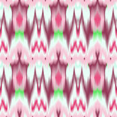 Colorful tie dye ethnic geometric fabric seamless pattern in pink and white, vector — Stock Vector