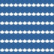 Blue and white scallop navy seamless pattern, vector — Stock Vector