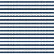 Navy rope striped seamless pattern in blue and white, vector — Stock Vector #29988665
