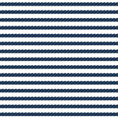 Navy rope striped seamless pattern in blue and white, vector — Stockvektor