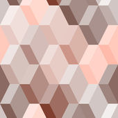 Abstract geometric seamless pattern in pink and brown, vector — Stock Vector