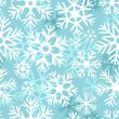Blue and white snowflakes christmas seamless pattern, vector — Stock Vector