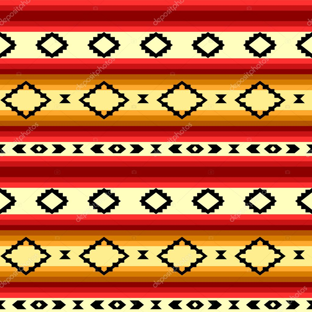 Mexican Blanket Pattern Mexican blanket geometric