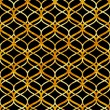 Stock Vector: Abstract golden lattice on black grunge seamless pattern, vector