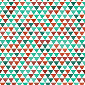 Colored and white triangles abstract geometric seamless pattern, vector — Stock vektor