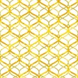 Abstract golden lattice on white grunge seamless pattern, vector — Stock Vector