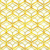 Abstract golden lattice on white grunge seamless pattern, vector — Stok Vektör