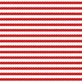 Rayures de corde marine en rouge et blanc modèle sans couture, vector — Vecteur