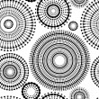 Abstract seamless pattern in black and white with circle shapes, vector — ベクター素材ストック